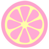 Pinky Lemonade Slice Clip Art