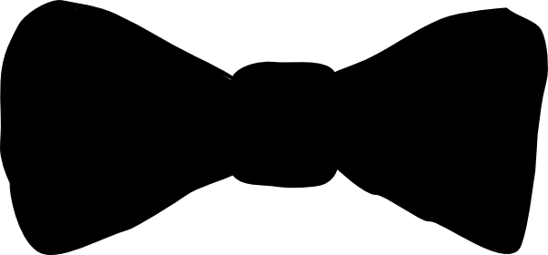 Black Bowtie Clip Art at Clker com - vector clip art online  royalty    Man Bow Tie Silhouette