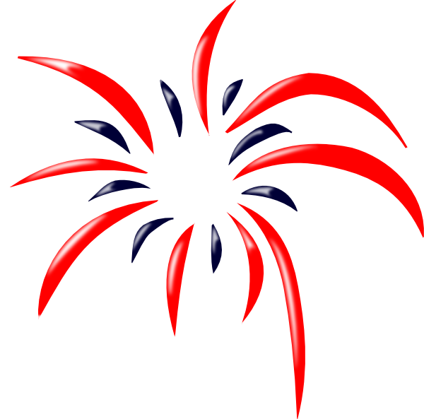 red blue firework clip art at clker com vector clip art online rh clker com fireworks clipart free fireworks clipart with no background