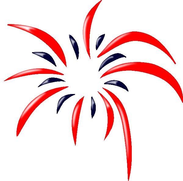 red blue firework clip art at clker com vector clip art online rh clker com fireworks clipart with no background fireworks clipart gif