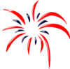 Red/blue Firework Clip Art