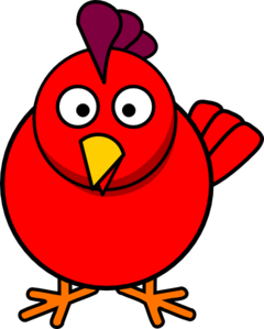 Red Chick Clip Art