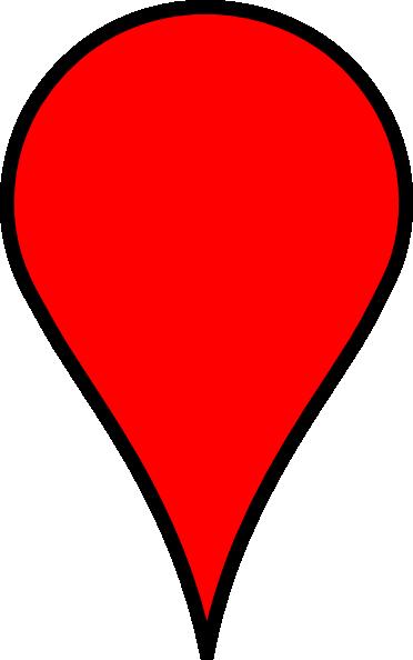 google maps red clip art at clkercom vector clip art