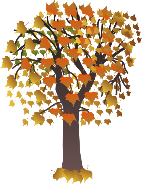 Maple Tree Clip Art at Clker.com - vector clip art online ... Cartoon Fall Tree With Branches