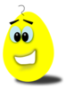Yellow Comic Egg Clip Art