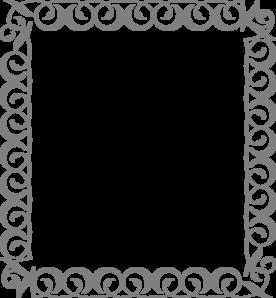 silver swirl border clip art at clkercom vector clip