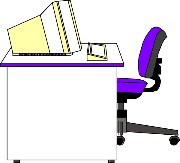 Office Desk White Clip Art At Vector Clip Art