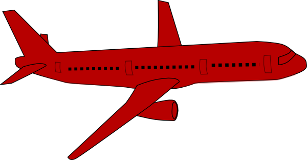 Red Airplane Clip Art at Clker.com - vector clip art online, royalty ...
