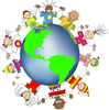 Kids World Hands Friends Networks Globe Illustration Small Image