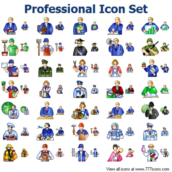 Professional Icon Set   Free Images at Clker.com - vector ...