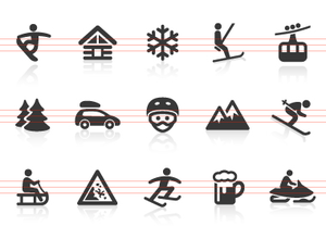 0042 Winter Sport Icons Image