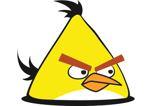Angry Birds Black Bird Clipart Image