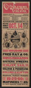 Houdini, Nothing On Earth Can Hold Houdini! Fred Ray & Co. In An Intensely Funny  Roman Travesty  .... Image