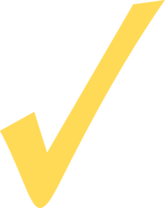 Yellow Check Mark Clip Art