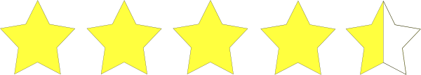 Four And A Half Star Rating Clip Art at Clker.com - vector ...