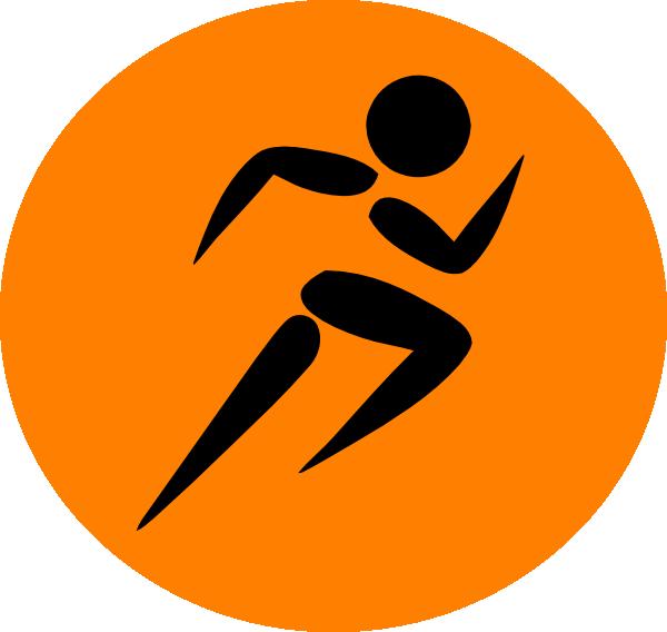 Man Running Orange Clip Art at Clker.com - vector clip art ...