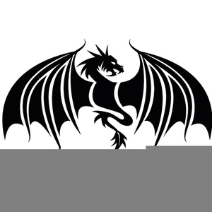 Dragon black. And white chinese clipart