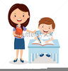 Teacher And Pupils Clipart Image