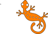 Orange Gecko Clip Art