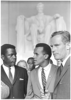 Civil Rights March 1963 Actors Sidney Poitier  Harry Belafonte And Charlton Heston Image
