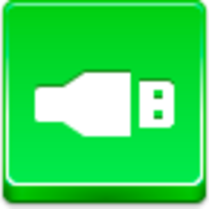 Free Green Button Usb Image