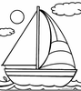 Printable Sailboats Image