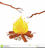 Roasting Marshmallows Clipart Image