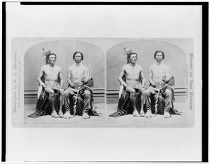 [two Winnebago Men, Full-length Portraits, Seated]  / Photographed By W.h. Illingworth. Image