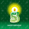 Flickering Birthday Candle Clipart Image