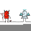 Angel Vs Devil Clipart Image