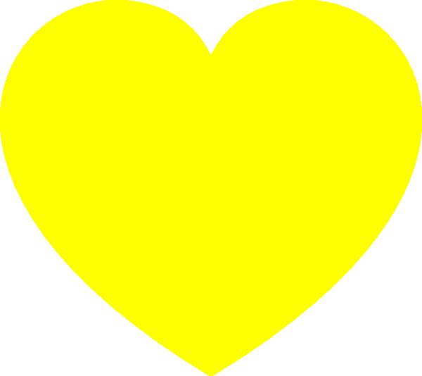 clip art yellow heart - photo #2