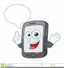 Person On Cell Phone Clipart Image