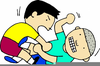 Kids Fighting Clipart Image