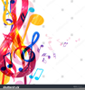 Christmas Music Notes Clipart Image