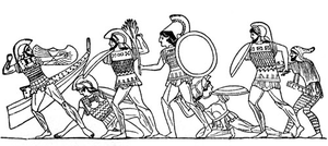 Trojans And Greeks Fight Image