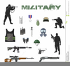 Army Equipment Clipart Image
