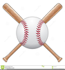 Crossing Baseball Bats Clipart Image