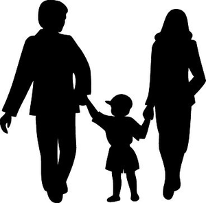 family silhouette free images at clker com vector clip art rh clker com family silhouette vector free family silhouette vector free download