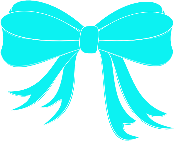 Turquoise Bow Ribbon Clip Art At Clker Com Vector Clip