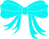 Turquoise Bow Ribbon Clip Art