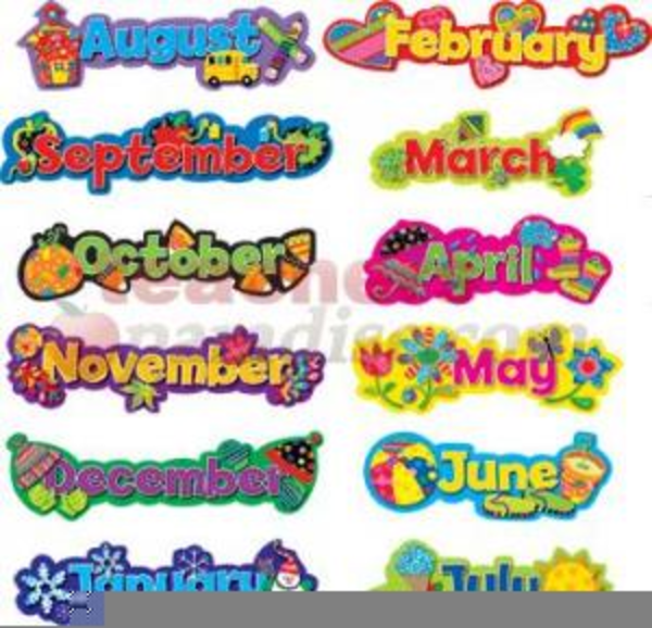 Free Clipart For Teachers Months Of The Year | Free Images ...
