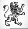 Clipart Heraldry Standing Lion Image