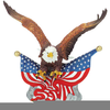 Civil War Eagle Clipart Image