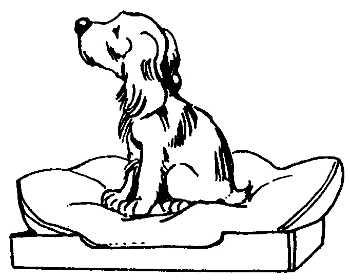 clipart dog in bed - photo #9