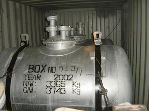 Scud Missile Parts  And Equipment Found In The Cargo Hold Aboard The North Korean Vessel, So San, Discovered  After Being Boarded By Spanish Special Forces Image