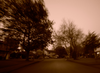 Neighbourhood Street In South Richmond Sepia Image