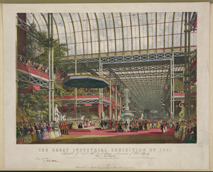 The Great Industrial Exhibition Of 1851. Plate 1. The Inauguration Image