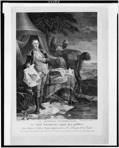 George Washington With Declaration Of Independence Image