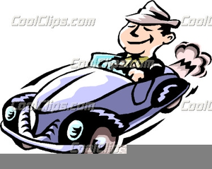 Free Clipart Person Driving Car Image