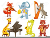 Animals Playing Musical Instruments Clipart Image